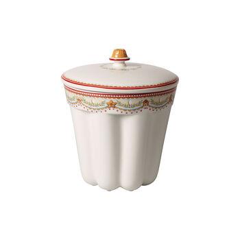 Winter Bakery Delight jar Bundt cake gingerbread, red/multicoloured, 19 x 19 x 20.5 cm, 2.3 l