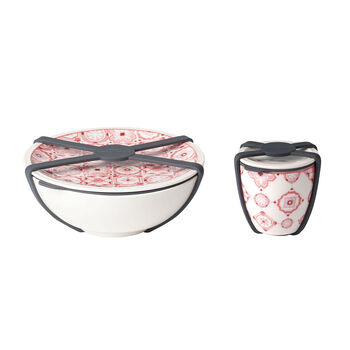 like.by Villeroy & Boch To Go salad set, 2 pieces, Coral