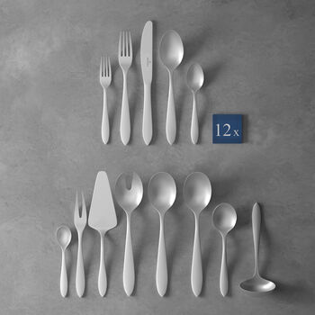 Arthur brushed cutlery set 68 pieces