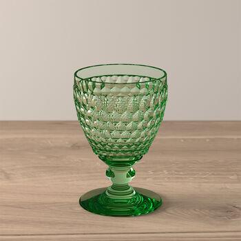 Boston Coloured White wine glass Green
