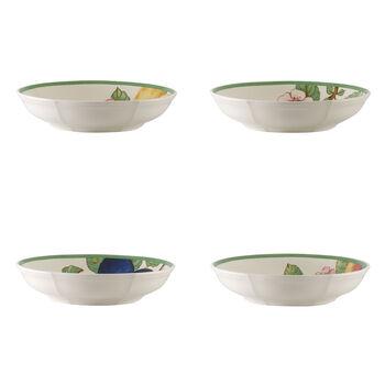 French Garden Modern Fruits flat bowl 4-piece set