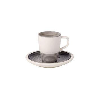 Manufacture gris Espresso cup & saucer 2pcs
