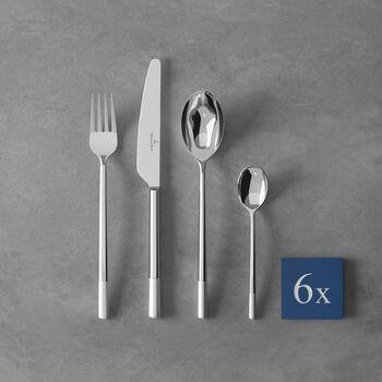 Ella satin Cutlery set 24pcs 42x27x5cm