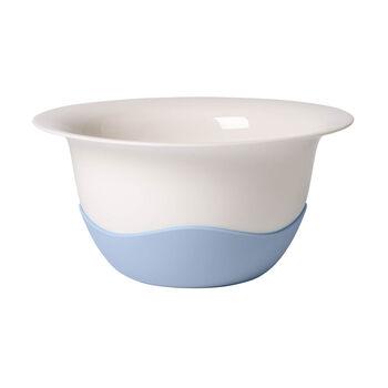 Clever Cooking blue strainer/serving bowl
