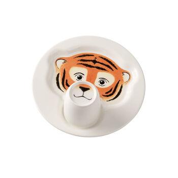 Animal Friends Plate with mug, tiger 22cm