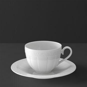 White Pearl Coffee/tea cup & saucer 2pcs