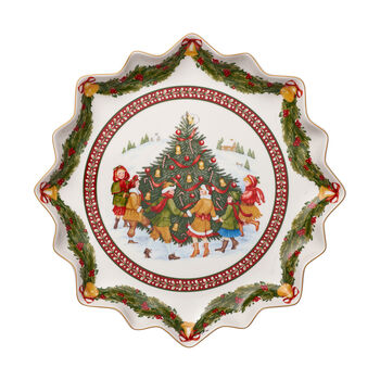 Toy's Fantasy deep biscuit plate, red/multicoloured, 39 x 39 x 3.5 cm