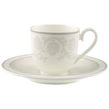 Gray Pearl Espresso cup & saucer 2pcs