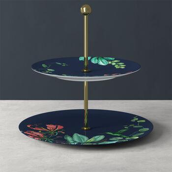 Avarua Gifts cake stand, 27.5 x 26.7 cm, blue/multicoloured