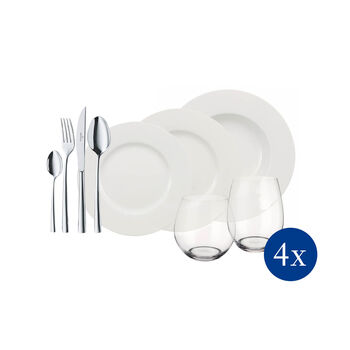 Wonderful World White 4 Friends 36-piece dinner set
