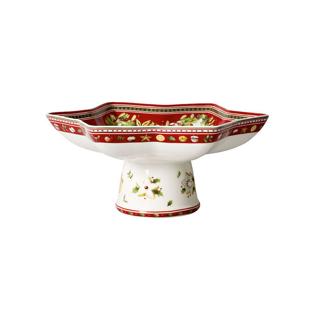 Winter Bakery Delight star footed bowl, , large