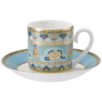 Samarkand Aquamarin Espresso cup & saucer 2pcs