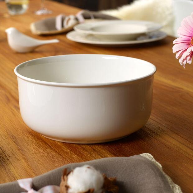 Twist White round bowl, , large