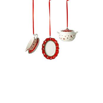 Toy's Delight Decoration ornament set serving pieces, 3 x 6 cm, 3 pieces