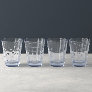 Dressed Up water glass 4-piece set Blue