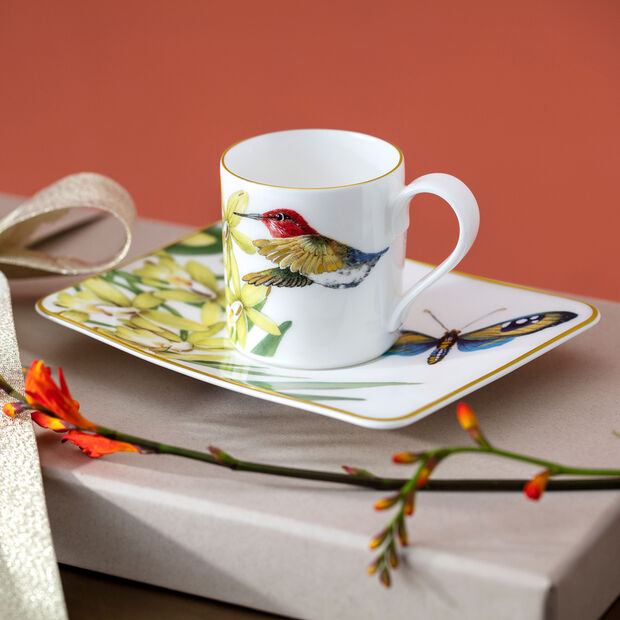 Amazonia coffee cup saucer 17 x 14 cm, , large
