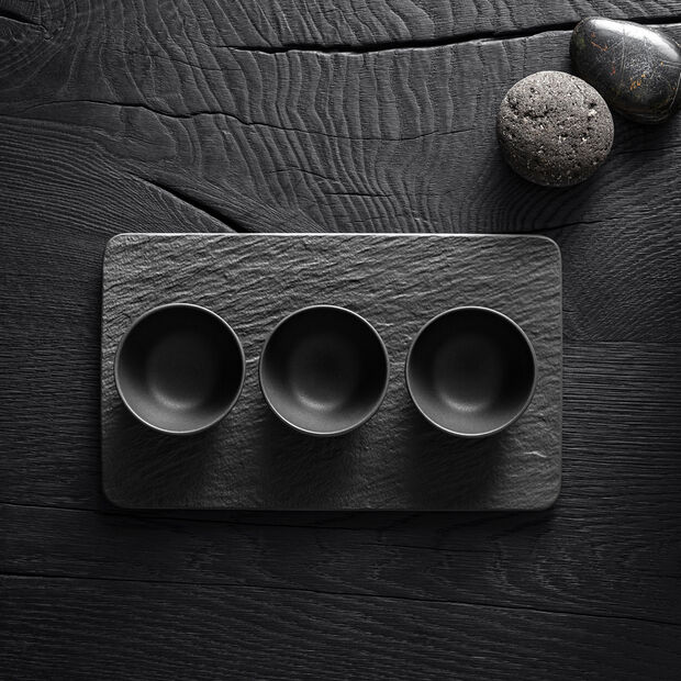 Manufacture Rock dip bowl set, black/grey, 8 x 8 x 4 cm, 4 pieces, , large