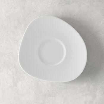Organic White Saucer coffee cup 17,5 x 16 x 2cm