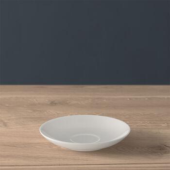 Twist White mocha/espresso cup saucer