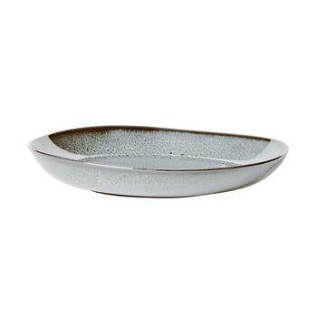 Lave Glacé flat bowl, turquoise, 28 x 27 x 4.3 cm