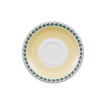 Charm & Breakfast French Garden Saucer white coffee cup XL 20cm