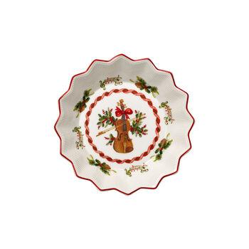 Toy's Fantasy small bowl violin, red/multicoloured, 17 x 17 x 3 cm