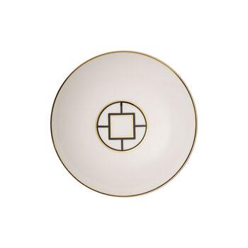 MetroChic soup plate, 20 cm diameter, 5 cm deep, white/black/gold