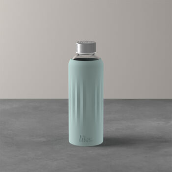 ToGo&ToStay glass bottle, 0.5 l, with silicone sleeve, mint green