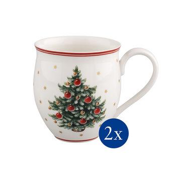 Toy's Delight Mug set 2pcs, X-mas tree 20x9x12cm