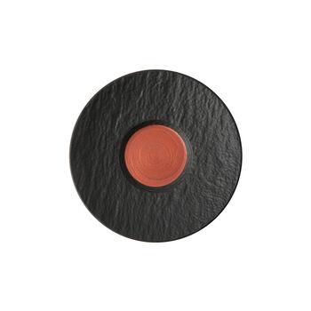 Manufacture Rock Glow café au lait cup saucer, copper/black, 17 x 17 x 2 cm