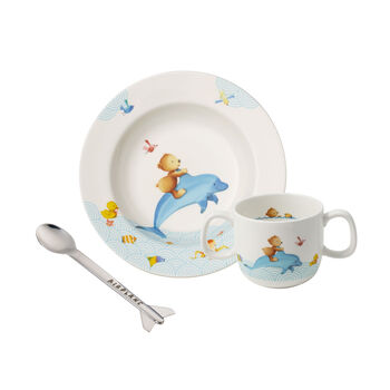 Happy as a Bear Children's crockery set, 3pcs.