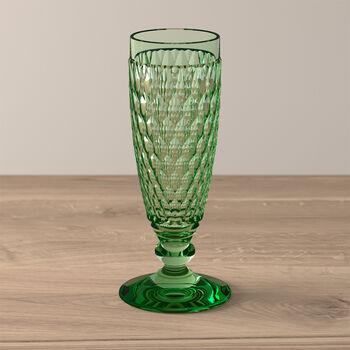 Boston Coloured Champagne glass Green