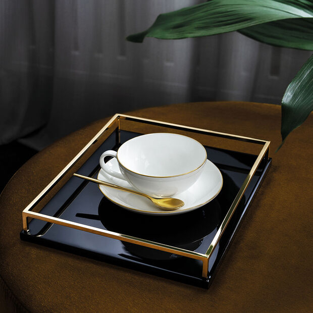 Anmut Gold teacup, 200 ml, white/gold, , large