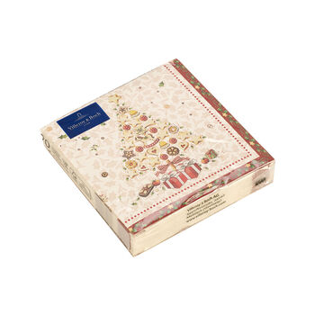 Winter Specials Bakery cocktail napkin Christmas tree, white/multicoloured, 20 pieces, 25 x 25 cm