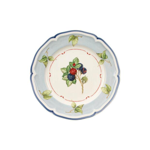 Cottage Salad plate blue background, , large