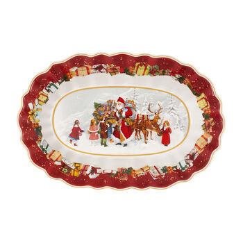 Toy's Fantasy Bowl oval large, Santa & Kids 29x19cmx5,5cm