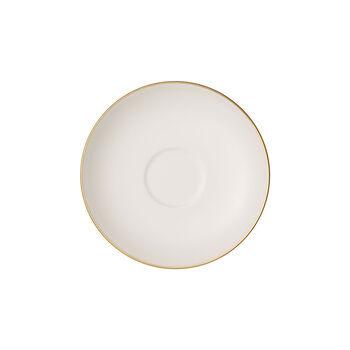 Anmut Gold mocha/espresso cup saucer, 12 cm diameter, white/gold