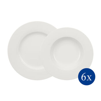 Wonderful World White dinner set 12 pieces