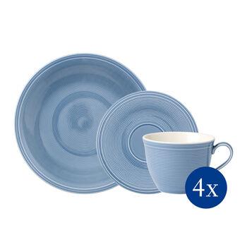 Color Loop Horizon coffee set, sky blue, 12 pieces