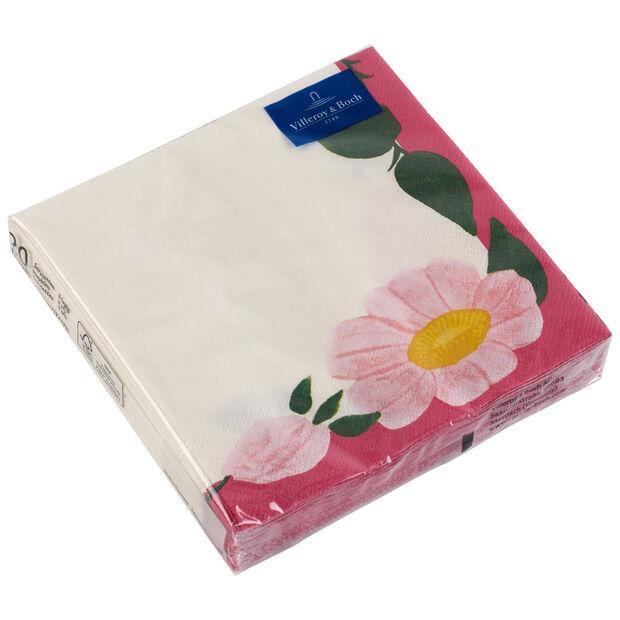Paper Napkins Rose Sauvage Framboise, 20 pieces, 33x33cm, , large
