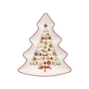 Winter Bakery Delight large tree-shaped bowl