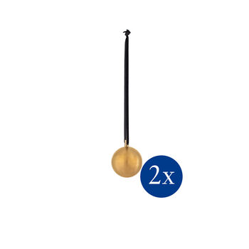 Christmas Decoration Xmas ball metal Set 2 S 6cm