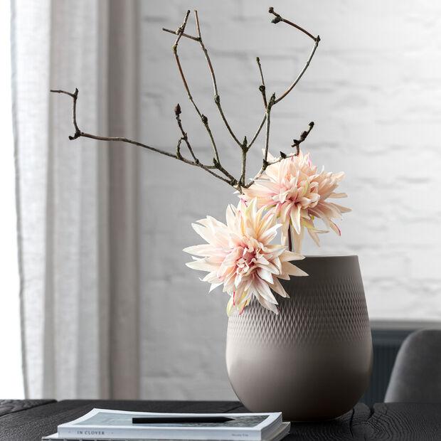 Manufacture Collier vase, 21 x 23 cm, Carré, Taupe, , large