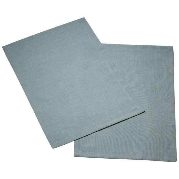 Textil Uni TREND Placemat  blue fox Set 2 35x50cm, , large
