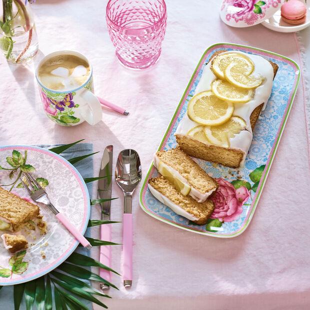 Rose Cottage square cake plate, , large