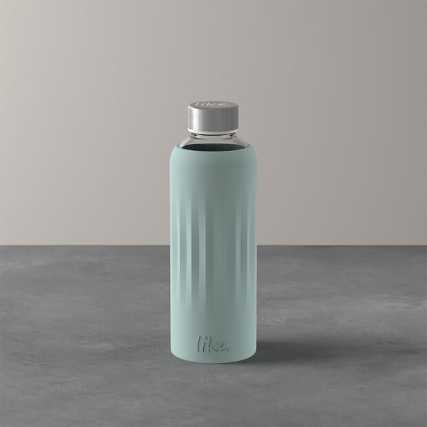 ToGo&ToStay glass bottle, 0.5 l, with silicone sleeve, mint green, , large