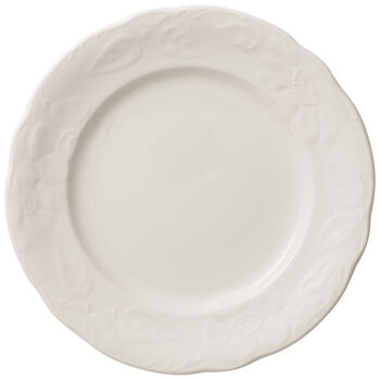 Rose Sauvage blanche breakfast plate