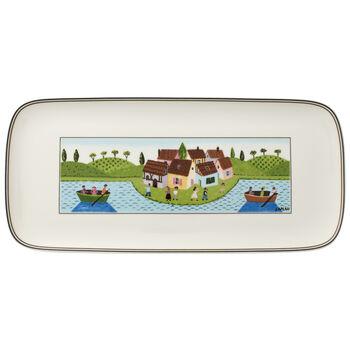 Charm & Breakfast Design Naif rectangular cake plate 35 x 16 cm