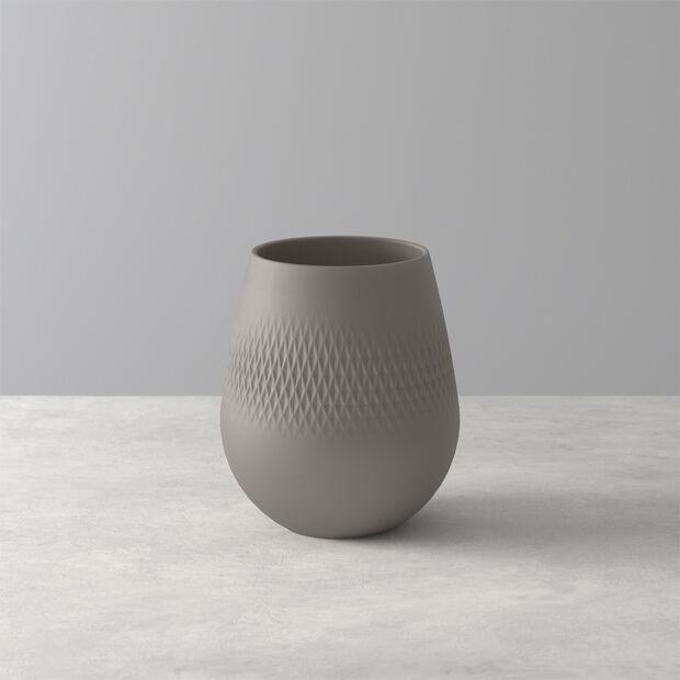 Manufacture Collier vase, 12 x 15 cm, Carré, Taupe, , large