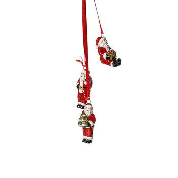 My Christmas Tree Santa trio ornament